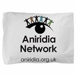 Aniridia Network logo & URL Pillow Sham