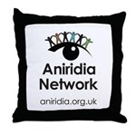 Aniridia Network logo & URL Throw Pillow