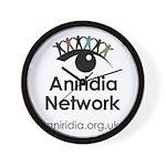 Aniridia Network logo & URL Wall Clock