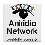 Aniridia Network logo & URL Tile Coaster