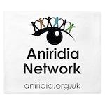 Aniridia Network logo & URL King Duvet