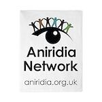 Aniridia Network logo & URL Twin Duvet Cover
