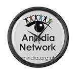 Aniridia Network logo & URL Large Wall Clock