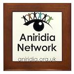 Aniridia Network logo & URL Framed Tile