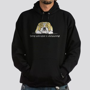 Adorable Bulldog Hoodie (dark)
