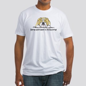 Adorable Bulldog Fitted T-Shirt