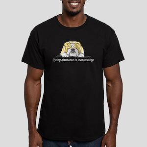 Adorable Bulldog Men's Fitted T-Shirt (dark)