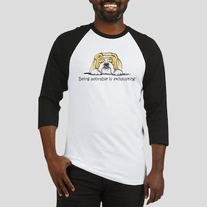 Adorable Bulldog Baseball Jersey