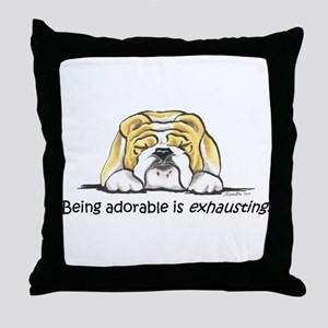 Adorable Bulldog Throw Pillow