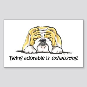 Adorable Bulldog Sticker (Rectangle)