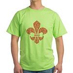 Fleur De Lis Green T-Shirt