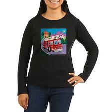 Fire Truck Women's Long Sleeve Dark T-Shirt