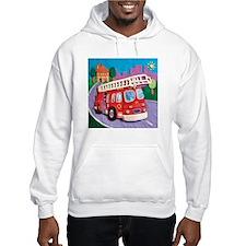 Fire Truck Hooded Sweatshirt