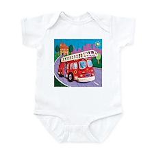 Fire Truck Infant Bodysuit