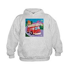 Fire Truck Kids Hoodie
