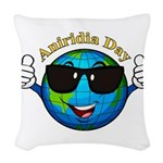 Aniridia Day Woven Throw Pillow
