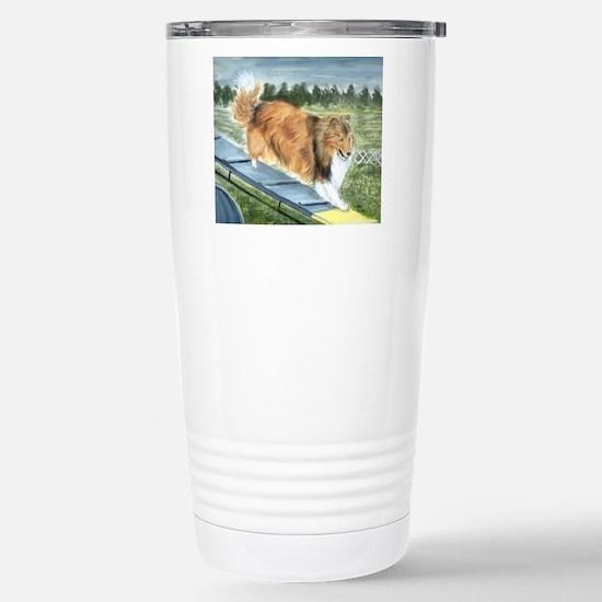 agility sheltie Stainless Steel Travel Mug