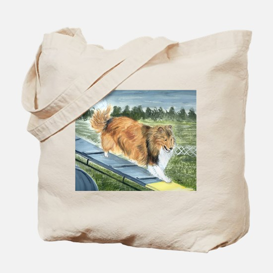 agility sheltie Tote Bag