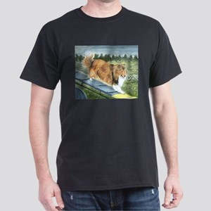 agility sheltie Dark T-Shirt