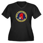 FBI Jackson Division Women's Plus Size V-Neck Dark