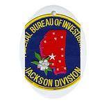 FBI Jackson Division Ornament (Oval)