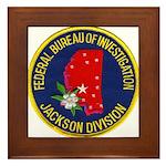 FBI Jackson Division Framed Tile