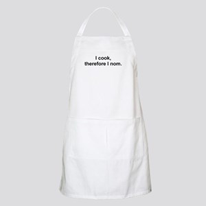 """""""I cook, therefore I nom"""" Apron"""