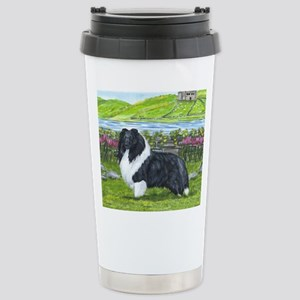 Bi Black Sheltie Stainless Steel Travel Mug