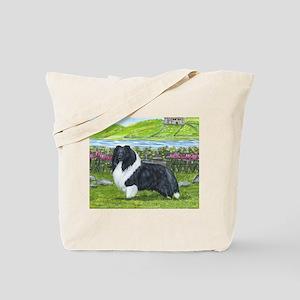 Bi Black Sheltie Tote Bag