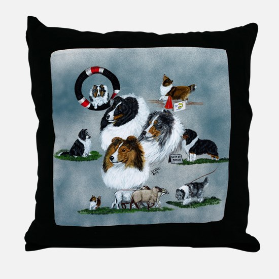 The Versatile Sheltie Throw Pillow
