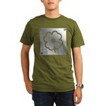 Poppy Metal Plate Organic Men's T-Shirt (dark)