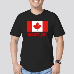 Beauty, eh? Men's Fitted T-Shirt (dark)