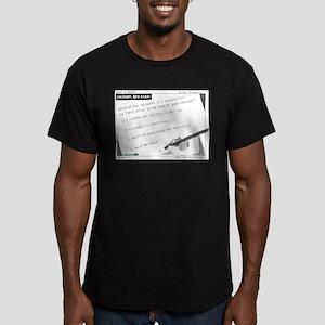 Uniform Bar Exam Men's Fitted T-Shirt (dark)