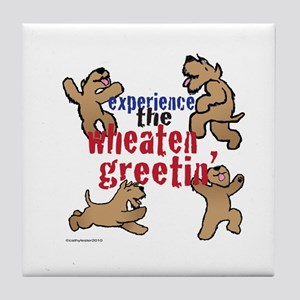 Wheaten Greetin' Tile Coaster