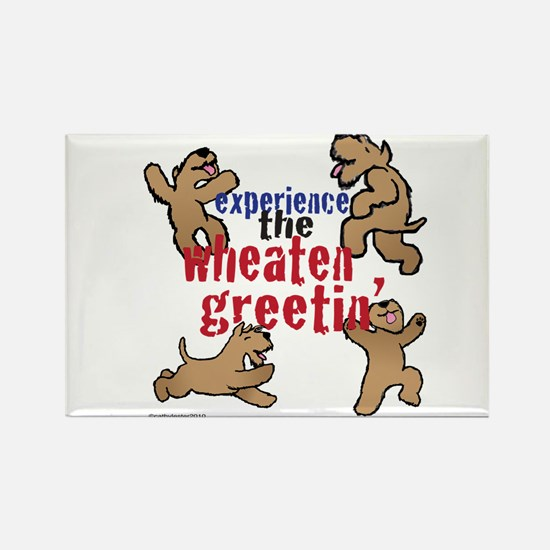 Wheaten Greetin' Rectangle Magnet