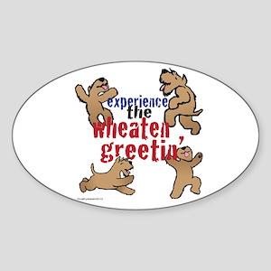 Wheaten Greetin' Sticker (Oval)