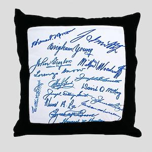 LDS Prophets Autographs Throw Pillow