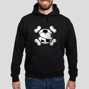 Soccer Kid Pirate Hoodie (dark)