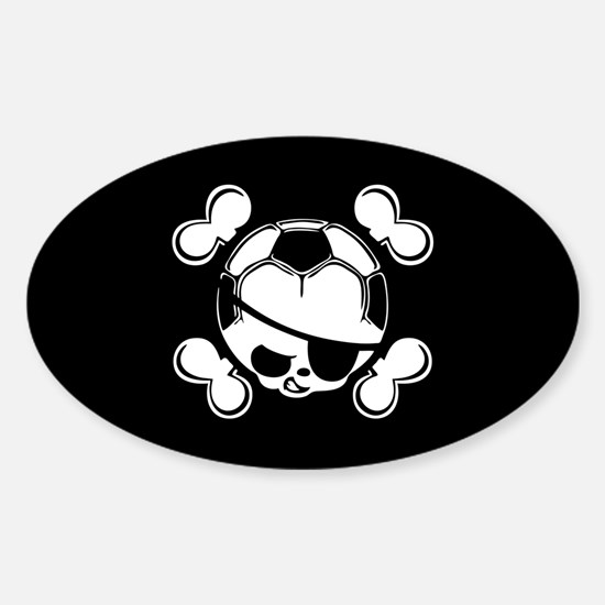 Soccer Kid Pirate Sticker (Oval)