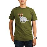 Jack Russell Painting Organic Men's T-Shirt (dark)