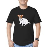 Jack Russell Painting Men's Fitted T-Shirt (dark)