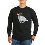 Jack Russell Painting Long Sleeve Dark T-Shirt