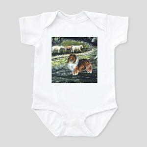 Sable Sheltie with Sheep Infant Bodysuit