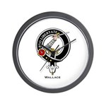 Wallace Clan Crest Wall Clock