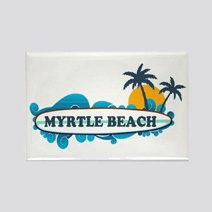 Myrtle Beach - Surf Design Rectangle Magnet