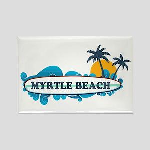 Myrtle Beach - Surf Design Rectangle Magnet