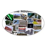 Is This Houston? Sticker (Oval 50 pk)