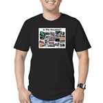Is This Houston? Men's Fitted T-Shirt (dark)