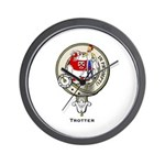 Trotter Clan Crest Wall Clock