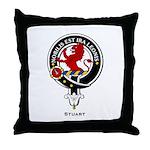 Stuart Clan Crest Throw Pillow